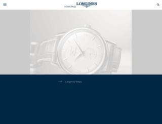 m.longines.com screenshot