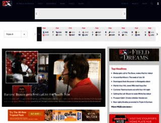 m.milb.com screenshot