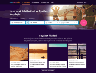 m.momondo.com.tr screenshot