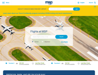 m.mspairport.com screenshot