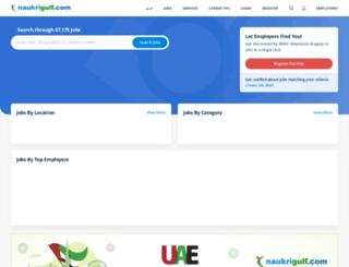 m.naukrigulf.com screenshot