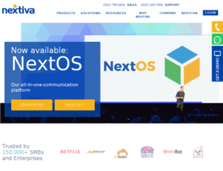 m.nextiva.com screenshot