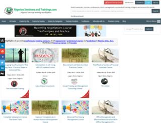 m.nigerianseminarsandtrainings.com screenshot
