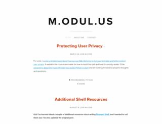 m.odul.us screenshot