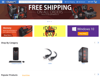 m.outletpc.com screenshot