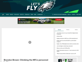 m.philadelphiaeagles.com screenshot