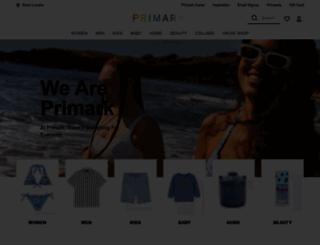 m.primark.com screenshot