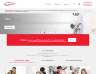 m.prudential.com.sg screenshot