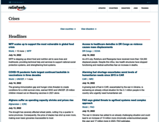 m.reliefweb.int screenshot