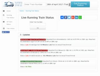 m.runningstatus.com screenshot