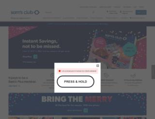 m.samsclub.com screenshot