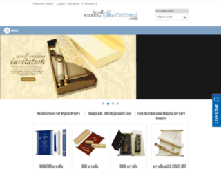 m.scrollweddinginvitations.com screenshot