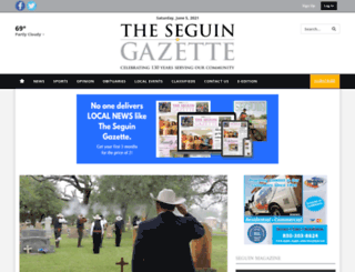 m.seguingazette.com screenshot