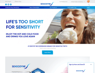 m.sensodyne.com screenshot
