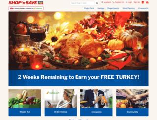 m.shopnsavefood.com screenshot