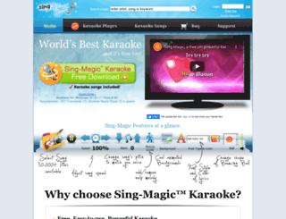 m.sing-magic.com screenshot