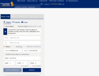 m.singaporeair.com screenshot
