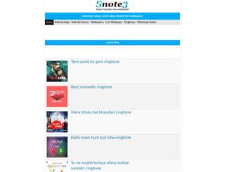 m.snote3.com screenshot