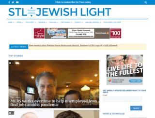 m.stljewishlight.com screenshot