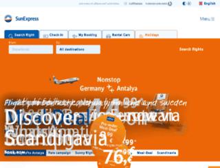 m.sunexpress.com screenshot