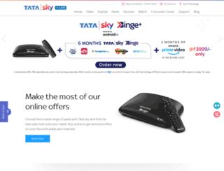 m.tatasky.com screenshot
