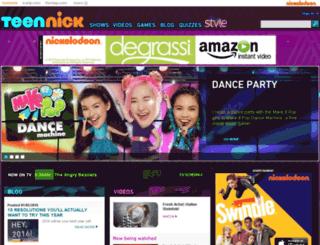 m.teennick.com screenshot