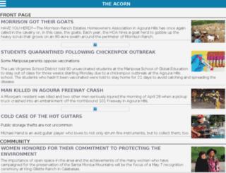 m.theacorn.com screenshot