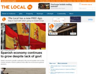 m.thelocal.es screenshot