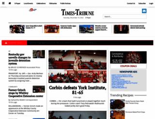 m.thetimestribune.com screenshot