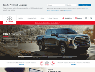 m.toyota.ca screenshot
