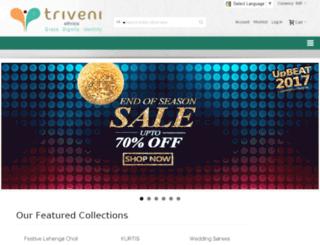 m.triveniethnics.com screenshot