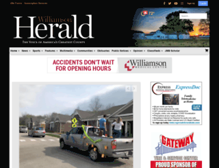 m.williamsonherald.com screenshot