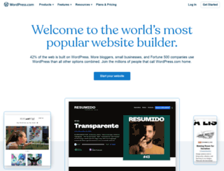 m.wordpress.com screenshot