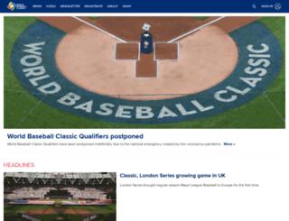 m.worldbaseballclassic.com screenshot