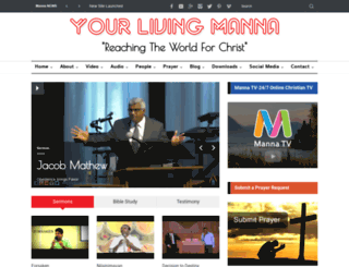 m.yourlivingmanna.com screenshot