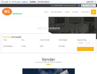 m3inmobiliaria.com screenshot
