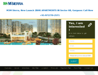 m3msierra68gurgaon.com screenshot