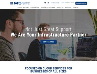 m5hosting.com screenshot