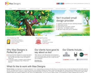maadesigns.co.uk screenshot
