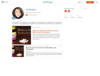 maahajan.hubpages.com screenshot