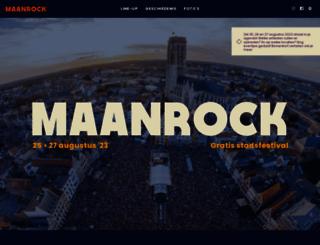 maanrock.be screenshot