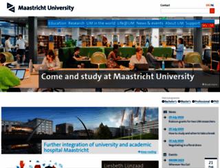 maastrichtuniversity.nl screenshot