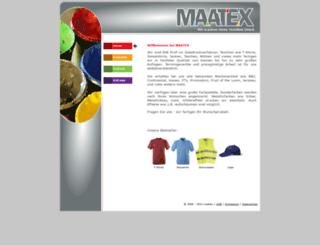 maatex.de screenshot