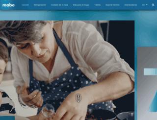 mabe.com.co screenshot