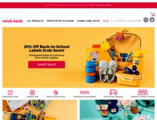 mabelslabels.com screenshot