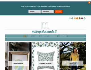 mabeyshemadeit.com screenshot