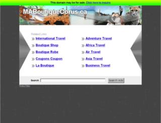 maboutiquecorus.ca screenshot