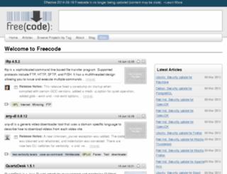 mac.freecode.com screenshot