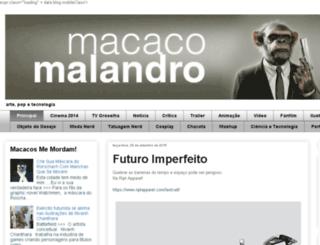 macacomalandro.com.br screenshot