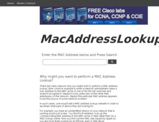 macaddresslookup.org screenshot